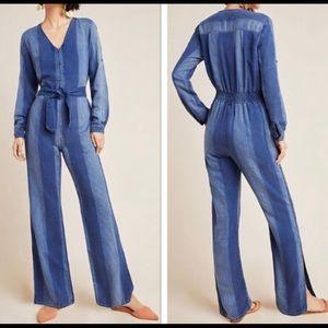 Anthropolgie soft jean jumpsuit
